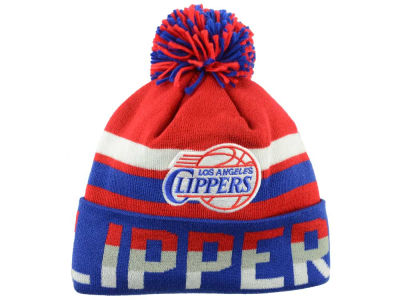 Los Angeles Clippers Mitchell and Ness NBA Trifecta Cuffed Pom Knit