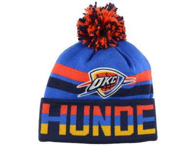 Oklahoma City Thunder Mitchell and Ness NBA Trifecta Cuffed Pom Knit