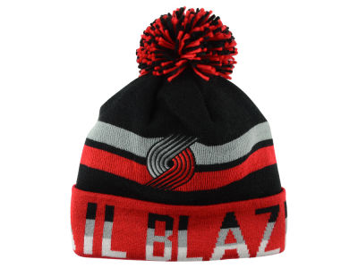 Portland Trail Blazers Mitchell and Ness NBA Trifecta Cuffed Pom Knit