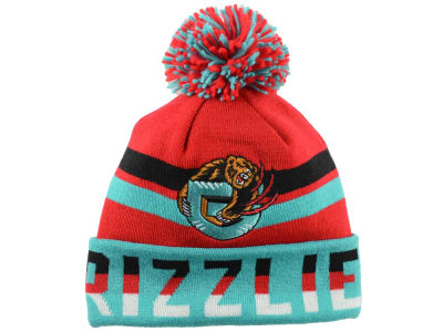 Vancouver Grizzlies Mitchell and Ness NBA Trifecta Cuffed Pom Knit