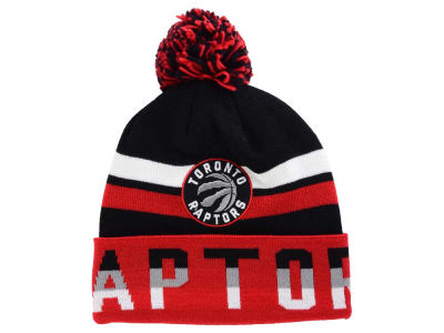 Toronto Raptors Mitchell and Ness NBA Trifecta Cuffed Pom Knit
