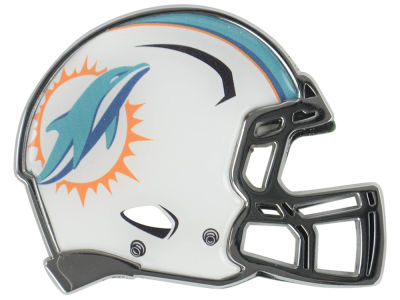 Miami Dolphins Metal Helmet Emblem with Domed Insert