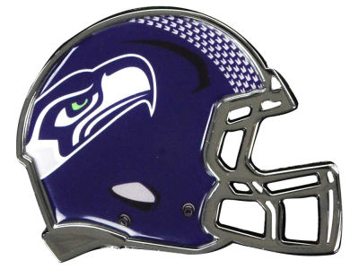 Seattle Seahawks Metal Helmet Emblem with Domed Insert