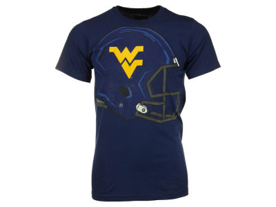 West Virginia Mountaineers NCAA Men's Sideline Completion Helmet T-Shirt