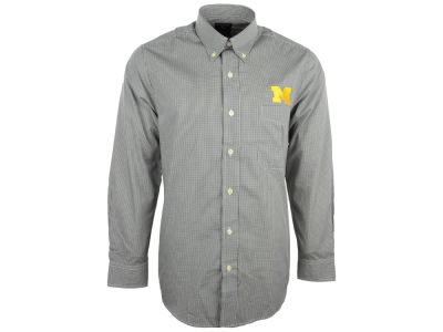 Michigan Wolverines NCAA Focus Long Sleeve Woven Shirt