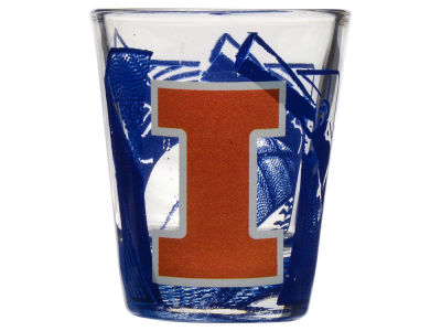 Illinois Fighting Illini 3D Wrap Color Collector Glass