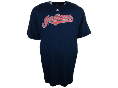 Cleveland Indians MLB Men's Official Wordmark 3X-4X T-Shirt