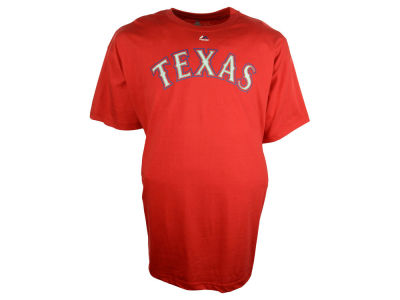 Texas Rangers MLB Men's Official Wordmark 3X-4X T-Shirt
