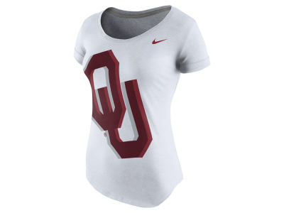 Oklahoma Sooners Nike NCAA Women's Logo Scoop Triblend T-Shirt