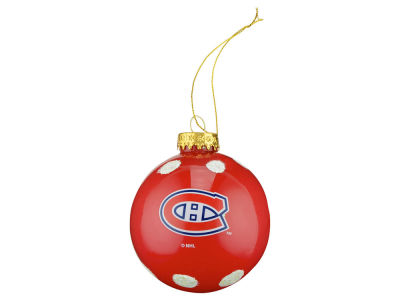Montreal Canadiens 3inch Glitter Polka Dot Ornament