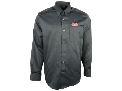 Ole Miss Rebels Cutter & Buck NCAA Men's Epic Woven Long Sleeve Button Up Shirt