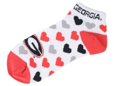 Georgia Bulldogs Lady Heart Logo Repeat Sock