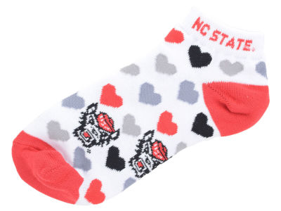 North Carolina State Wolfpack Lady Heart Logo Repeat Sock