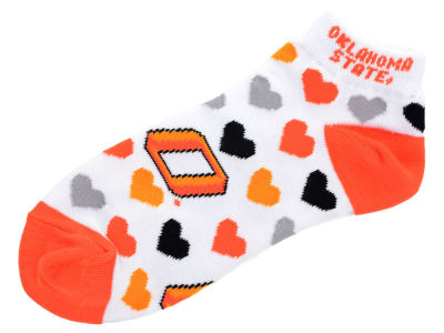 Oklahoma State Cowboys Lady Heart Logo Repeat Sock