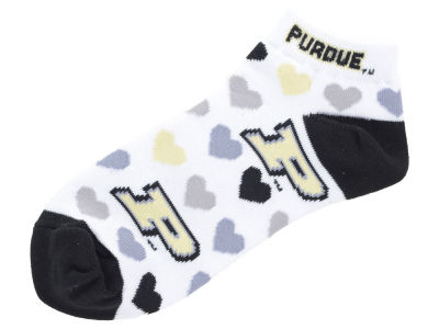 Purdue Boilermakers Lady Heart Logo Repeat Sock