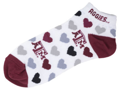Texas A&M Aggies Lady Heart Logo Repeat Sock