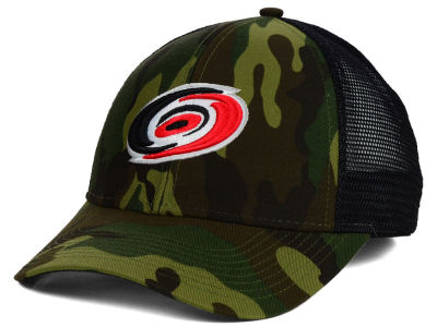 Carolina Hurricanes Reebok NHL 2014 Camo Trucker Cap