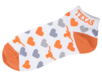 Texas Longhorns Lady Heart Logo Repeat Sock