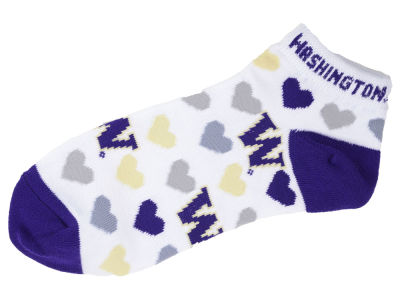 Washington Huskies Lady Heart Logo Repeat Sock