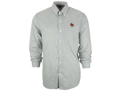 Louisville Cardinals NCAA Men's Tattersall Long Sleeve Woven Button Up Shirt