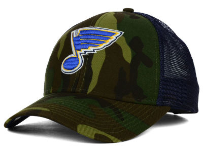St. Louis Blues Reebok NHL 2014 Camo Trucker Cap