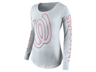 Washington Nationals Nike MLB Women's Fade Long Sleeve T-Shirt