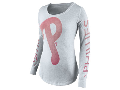 Philadelphia Phillies Nike MLB Women's Fade Long Sleeve T-Shirt