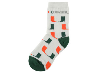 Miami Hurricanes For Bare Feet All Over Toddler Socks