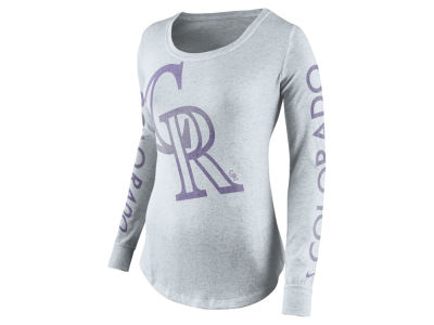 Colorado Rockies Nike MLB Women's Fade Long Sleeve T-Shirt
