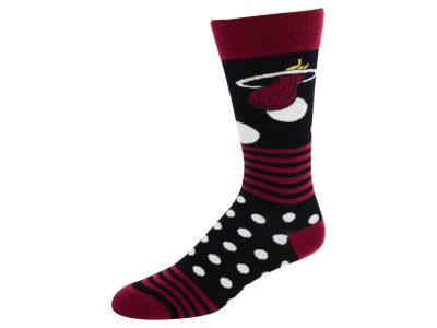 Miami Heat For Bare Feet Dots and Stripes Sock