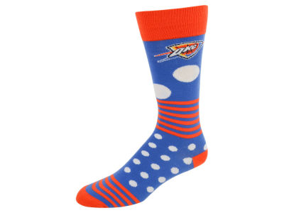 Oklahoma City Thunder Dots and Stripes Sock