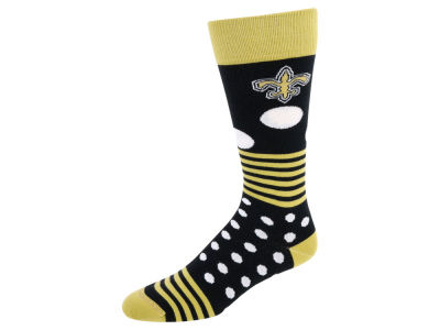 New Orleans Saints Dots and Stripes Sock
