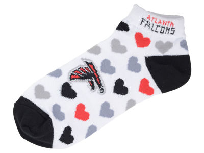 Atlanta Falcons Lady Heart Logo Repeat Sock