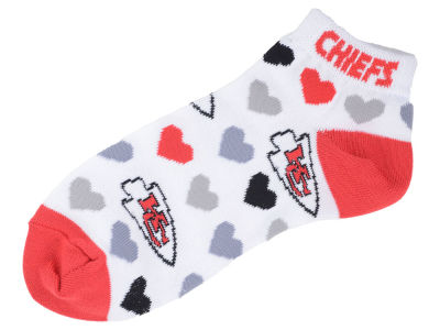 Kansas City Chiefs Lady Heart Logo Repeat Sock