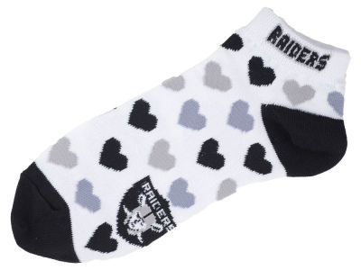 Oakland Raiders Lady Heart Logo Repeat Sock