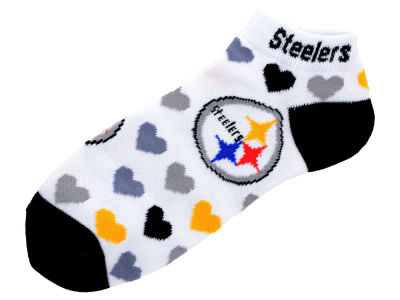 Pittsburgh Steelers Lady Heart Logo Repeat Sock