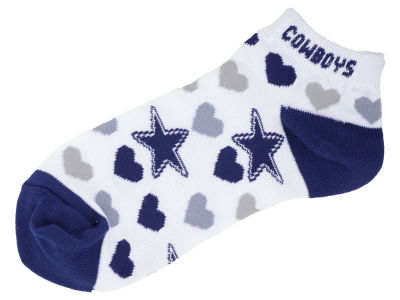 Dallas Cowboys Lady Heart Logo Repeat Sock