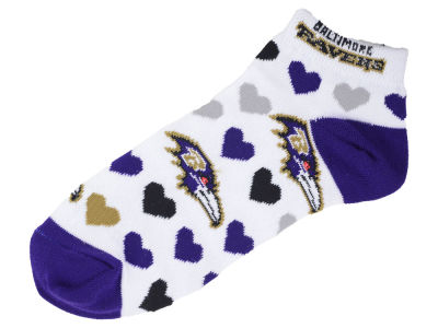 Baltimore Ravens Lady Heart Logo Repeat Sock