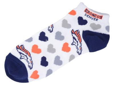 Denver Broncos Lady Heart Logo Repeat Sock
