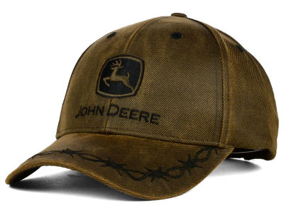 John Deere John Deere Oilskin Barbwire Adjustable Hat