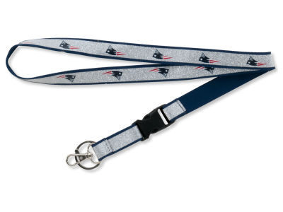 New England Patriots Sparkle Lanyard-Aminco