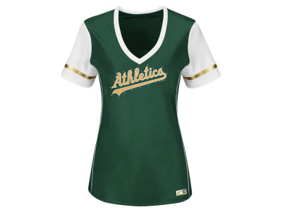 Oakland Athletics MLB Women's Curveball Babe T-Shirt