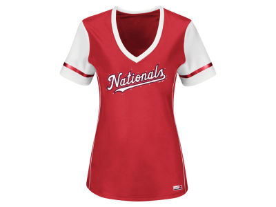 Washington Nationals MLB Women's Curveball Babe T-Shirt
