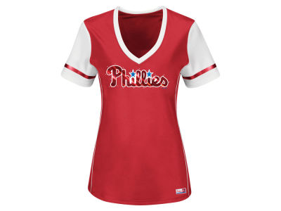 Philadelphia Phillies MLB Women's Curveball Babe T-Shirt