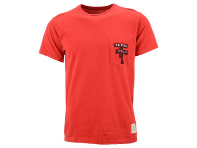 Texas Tech Red Raiders Retro Brand NCAA Men's Pocket T-Shirt