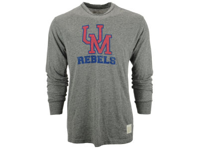 Ole Miss Rebels NCAA Men's Throwback Mascot Long Sleeve T-Shirt