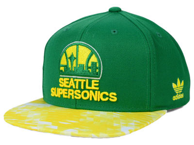Seattle SuperSonics adidas NBA City Pulse Snapback Cap