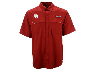 Oklahoma Sooners NCAA Men's Low Drag Off Shore Button Up Shirt