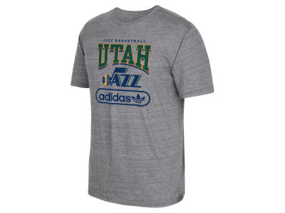 Utah Jazz adidas NBA Men's Pointed Tri-Blend T-Shirt
