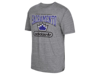 Sacramento Kings adidas NBA Men's Pointed Tri-Blend T-Shirt
